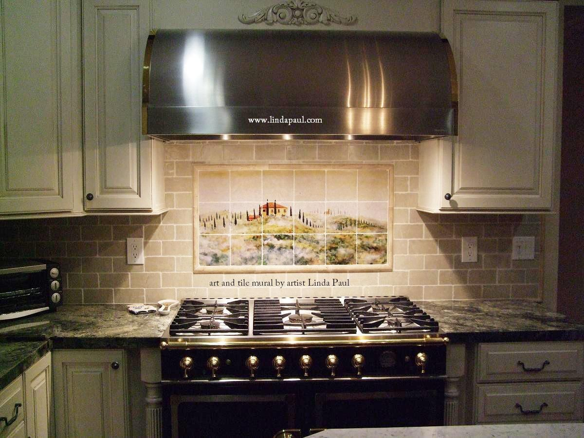 cream glass tile backsplash Kitchen Backsplash