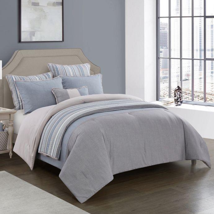 Kayden 7 Piece Reversible Comforter Set Bed Bath Beyond