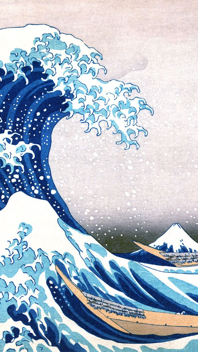 The Great Wave Off Kanagawa Painting Iphone  Wallpaper