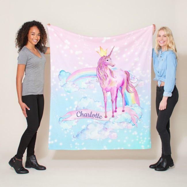 Unicorn Blanket Personalized Unicorn Blankets #unicorn #unicornbaby #unicorn #girlbaby