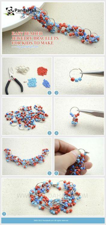Jewelry Making Tutorial--DIY Easy Beaded Bracelets for Kids |