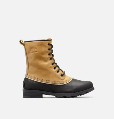 b3f75cdd2 The SOREL Women's Emelie 1964 Boot is a sleek, timeless lace-up winter boot  made from premium waterproof full-grain leather and protective molded  rubber.