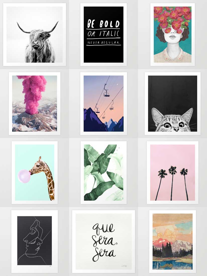Society6 Art Decorate your walls with