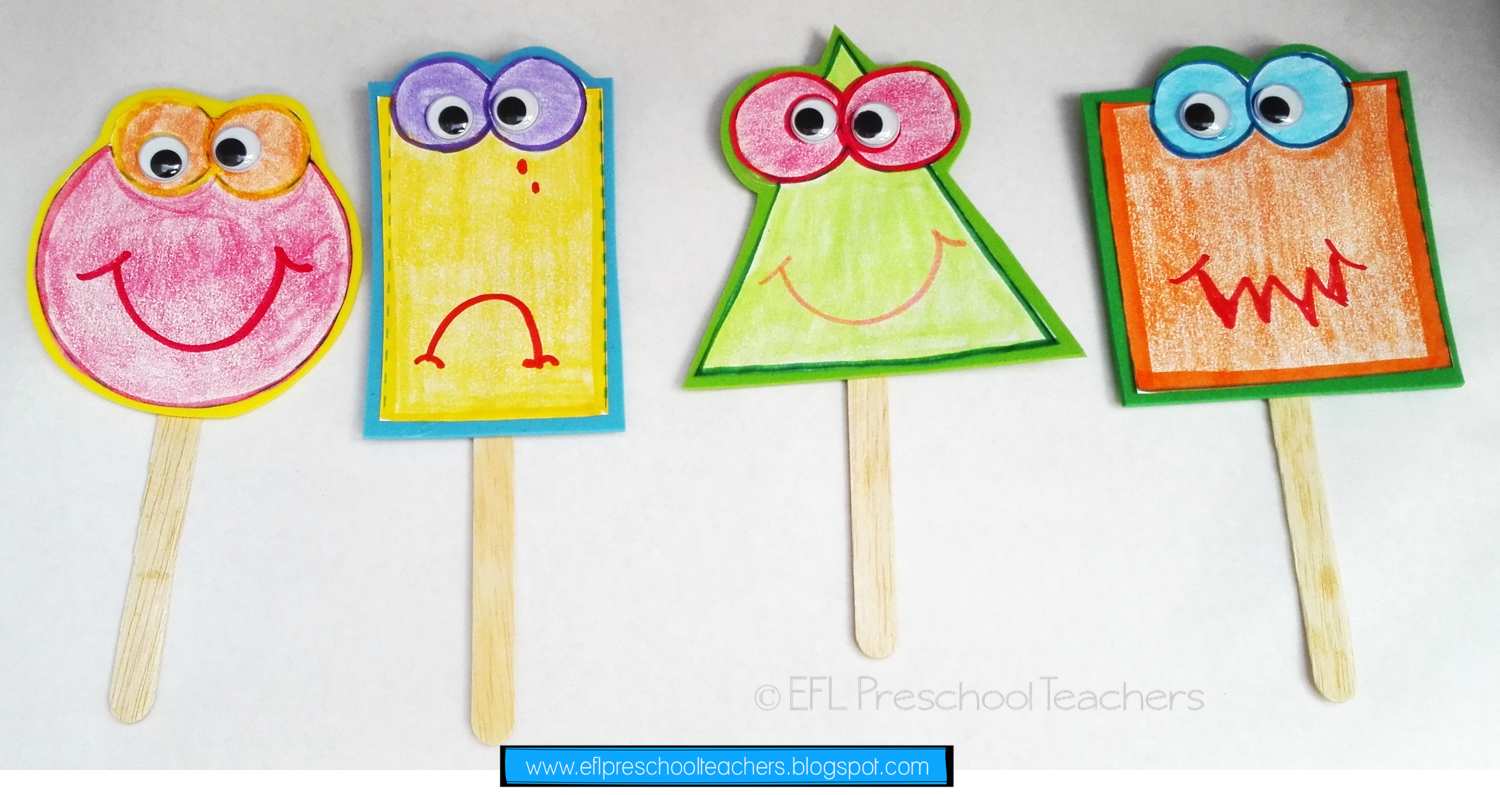 Esl Emotions Or Feelings Unit Puppets Made With The