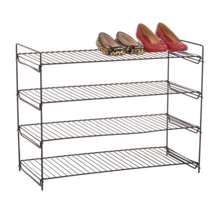 howards storage world black 4 tier shoe rack