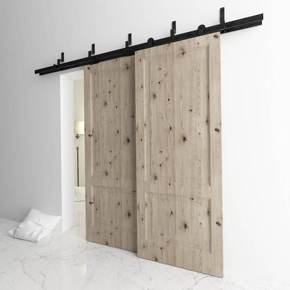Pictures Above Show Bypass Door One Door On The Front Track Another One On The Back Track 10ft Track Hardware Set Excepti Bypass Barn Door Glass Barn Doors