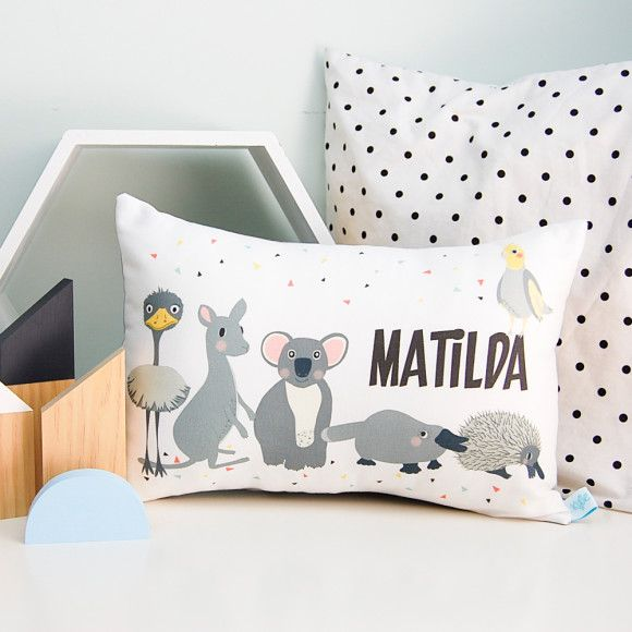 Australian Animal Kids\' Personalised Cushion
