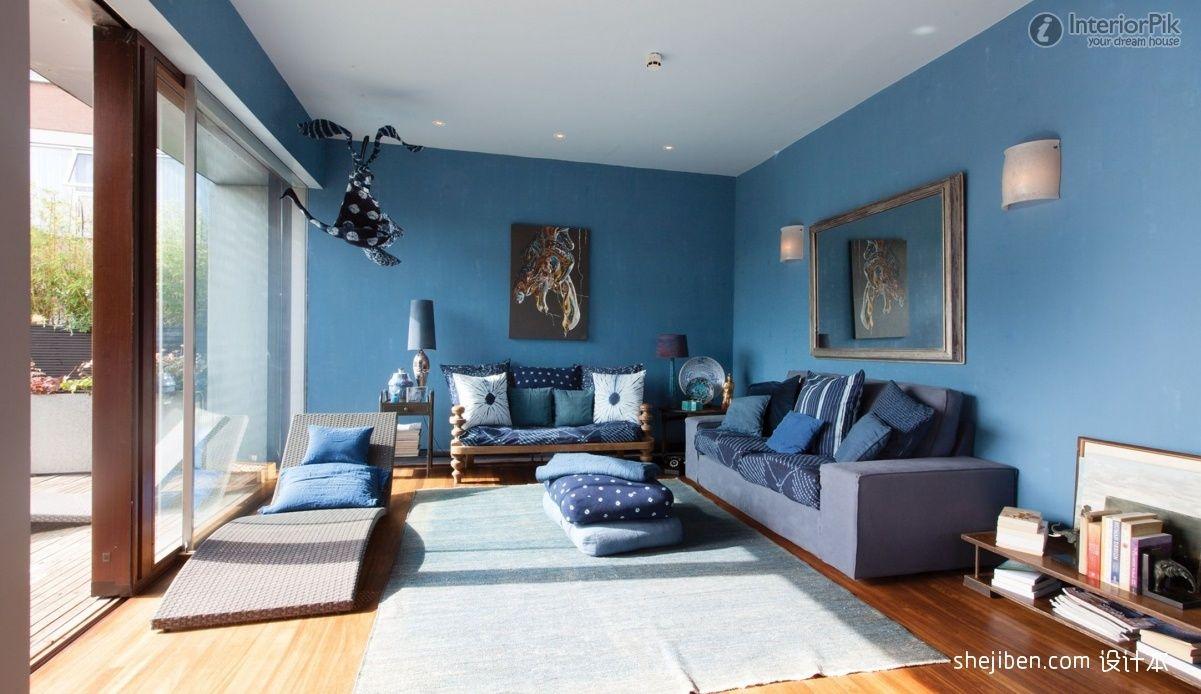 living room in blue%0A Cornlofts Triplex by Barbara Bencova      work space   Pinterest   House