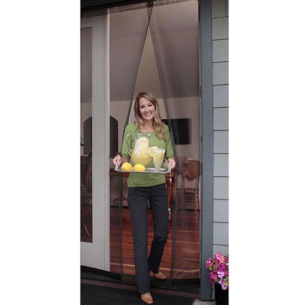 Magnetic screen door instant mesh curtain patio pet door for Mosquito net for french doors