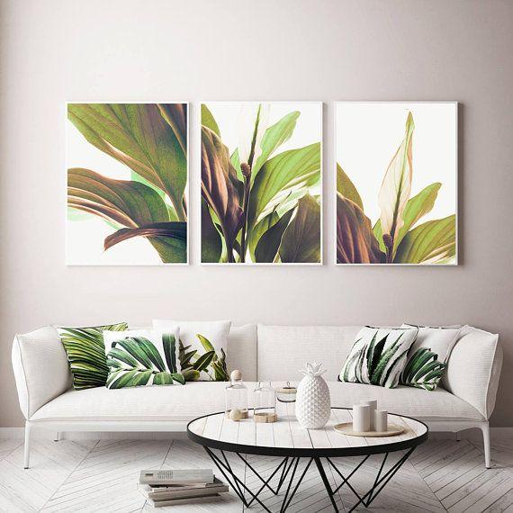 set of 3 prints botanical poster boho bedroom decor above bed art 3 rh pinterest com