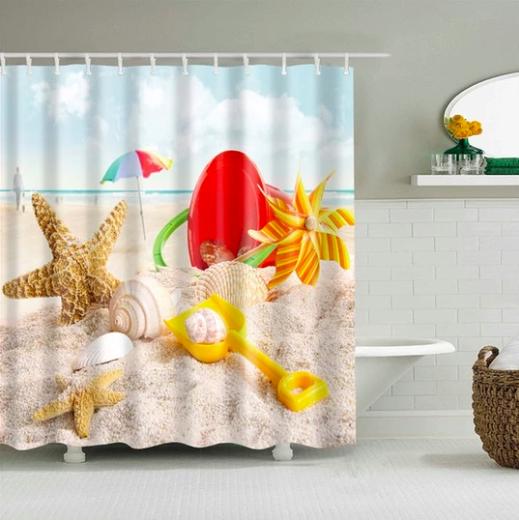 Beach Play Day Fabric Shower Curtain Fabric Shower Curtains