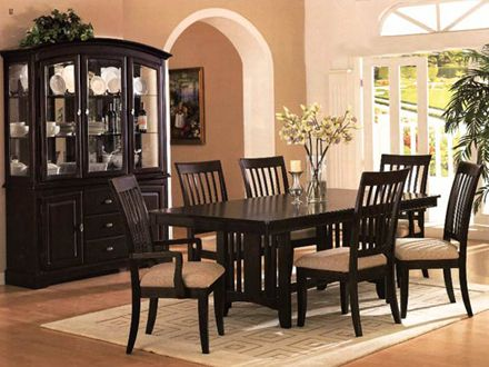 Magnificent Dark Wood Dining Tables And Chairs Dining Room Dark ...