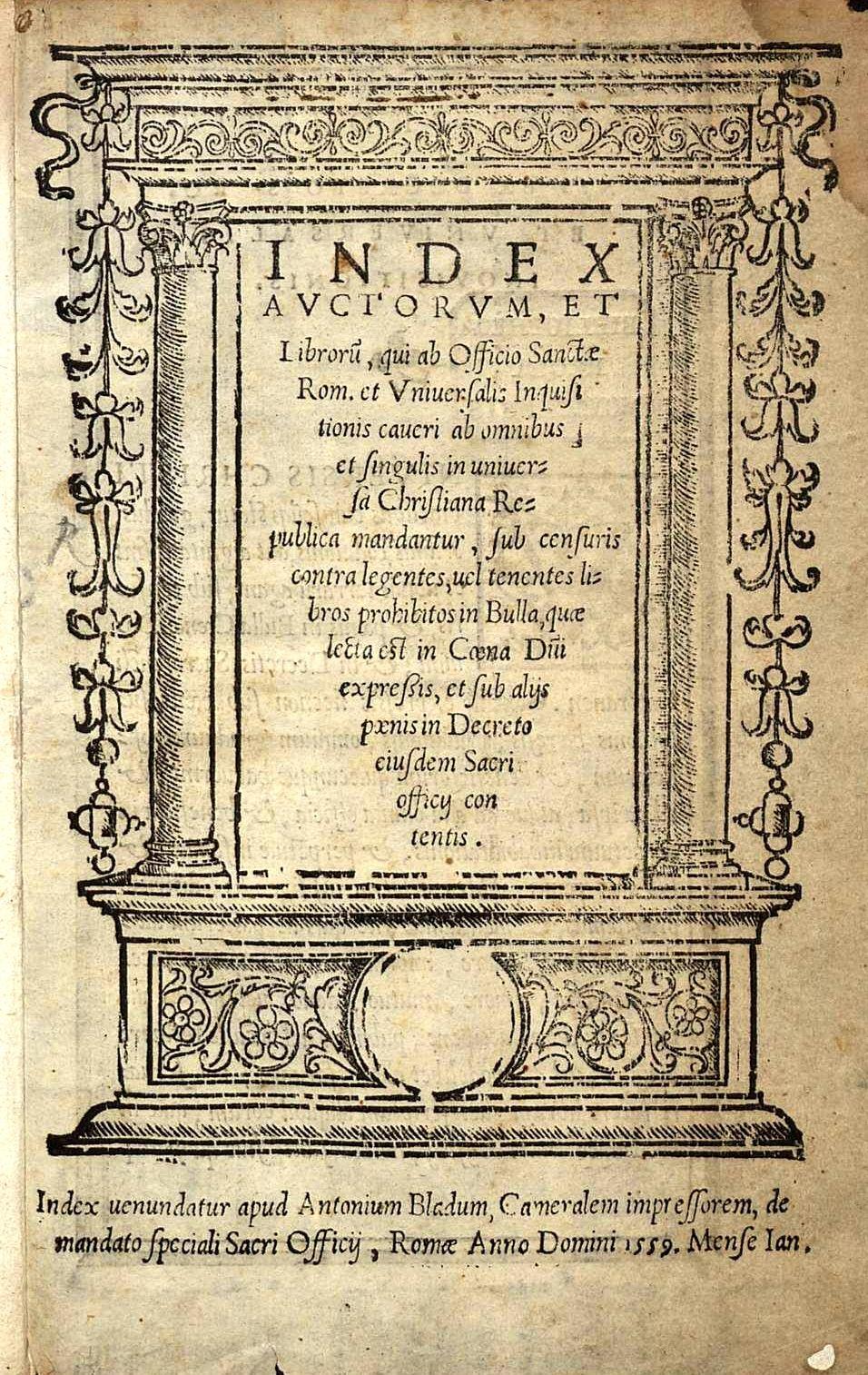 In 1559, Giovanni Boccaccio's