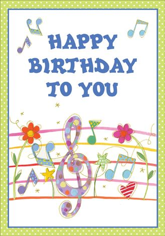 Happy Birthday Song Card Happy Birthday Pinterest Happy