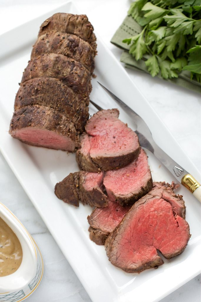 Sliced Roasted Beef Tenderloin | Striped Spatula