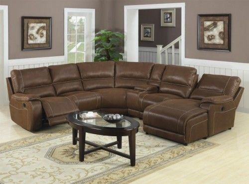 loukas leather reclining sectional sofa with chaise might be good rh pinterest com