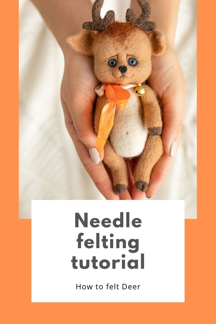 Needle felting tutorial Deer #feltcreations