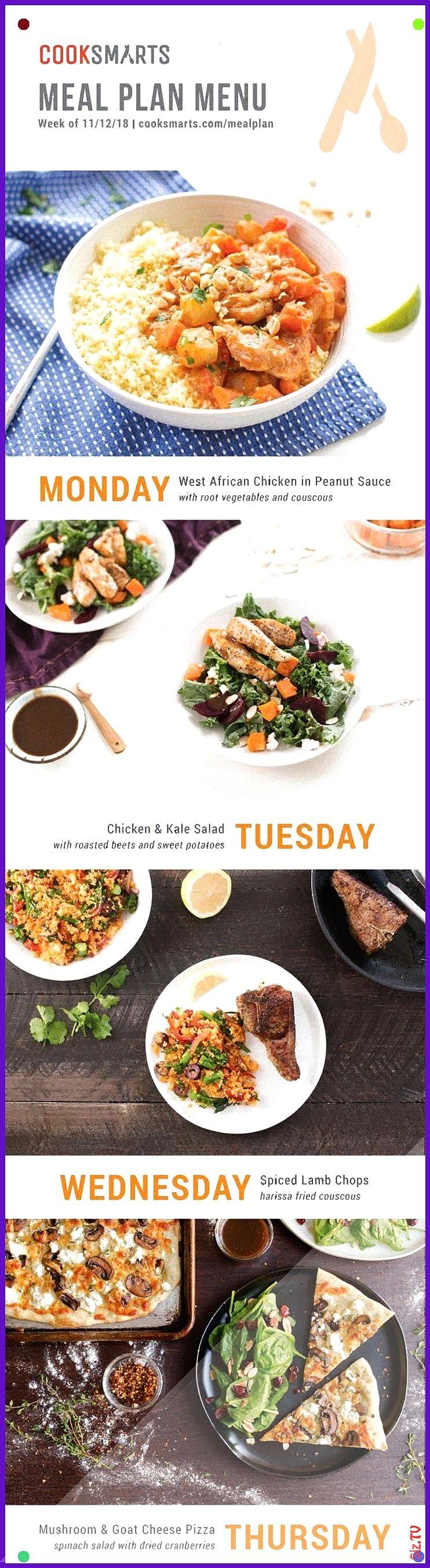 Meal Planner Menu For Week Of 111218 Via Cook Smarts Healthy Meal Plan Menu Global Recipes Meal Plan Service Food Around The World Get Ou Weekly Meal Planner Menu For Wee...