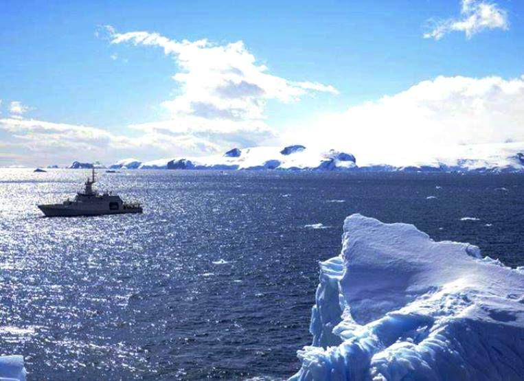 Expedición de Colombia en el Antártico.