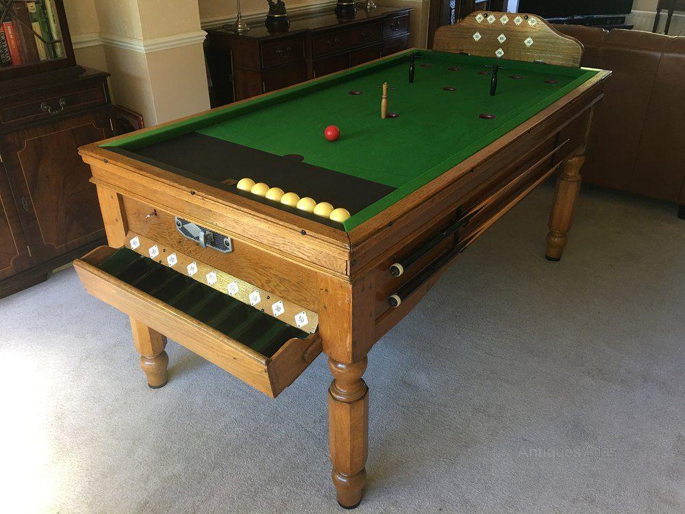 antiques atlas jelks and sons oak bar billiard table slate bed rh pinterest com