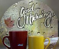 Good Morning Heart & Star Burst Gif