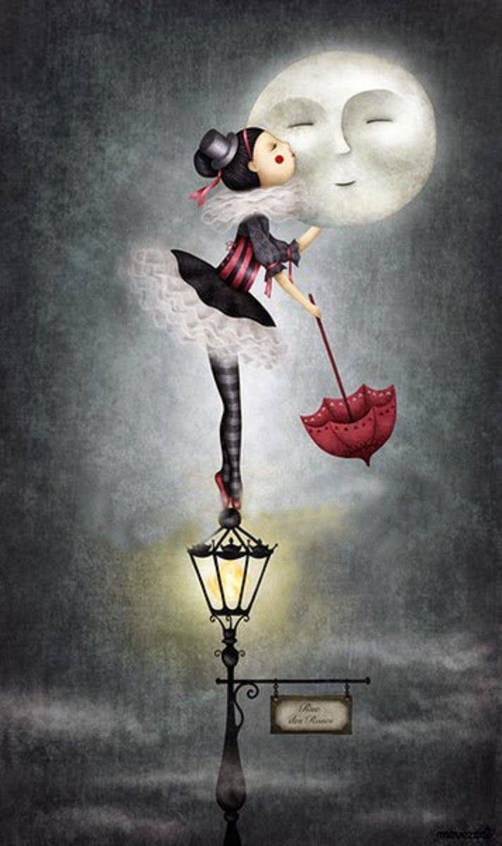BESANDO LA LUNA | dibujitos | Pinterest | Buenas noches, Buen día y ...