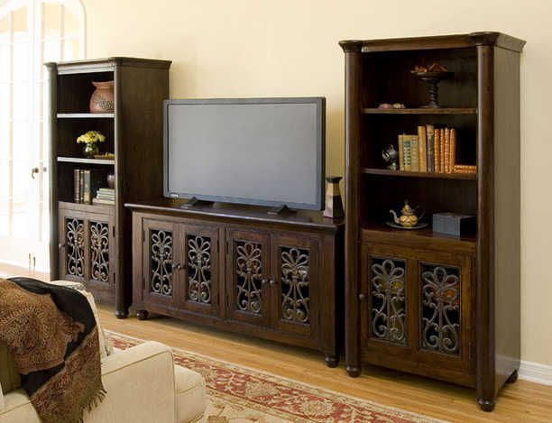 5983-The Vapi TV Console with Two Bookcases -- Thin Bookcase; Deep
