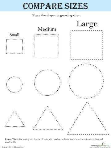 18 Educational Tracing Activities For Kids Shapes Worksheets Shapes Kindergarten Shapes Preschool Kindergarten worksheets tracing shapes