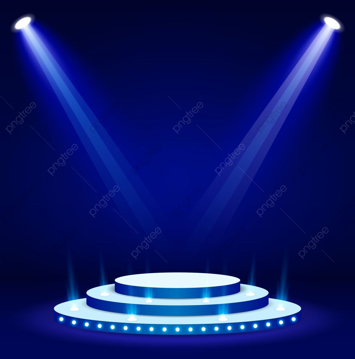 Blue Stage Podium Spotlight Illuminated Scene Vector Illustration Spotlight Clipart Visual Effect Lighting Beam Png And Vector With Transparent Background Fo Green Screen Video Backgrounds Green Background Video Visual Effects