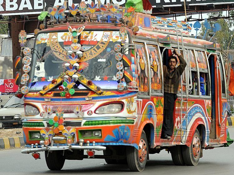 this is fancy bus of pakistan  d