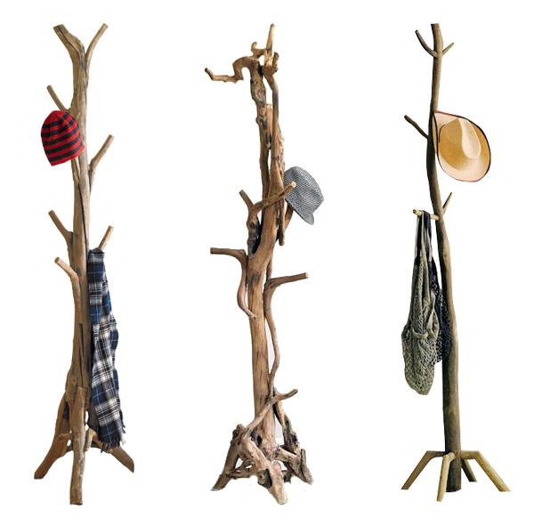 Percheros dys con ramas y troncos muebles muebles - Percheros de madera rusticos ...