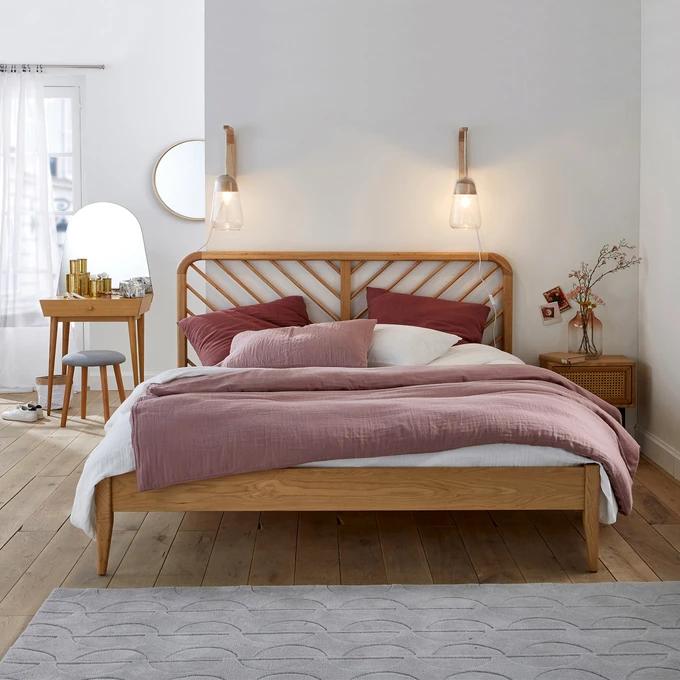Anda Solid Oak Bed With Base Oak Beds Solid Oak Beds Oak Headboard