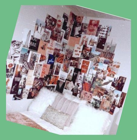 38+ Trendy Wall Decored Bedroom College Tumblr Rooms Pictures | Dorm Room Wall Decor | Dorm R... #dormroomideasforguys