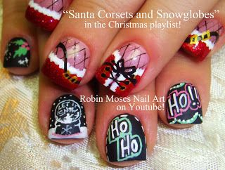 Robin Moses Nail Art: BOTTOM three nails (looks like a chalkboard)