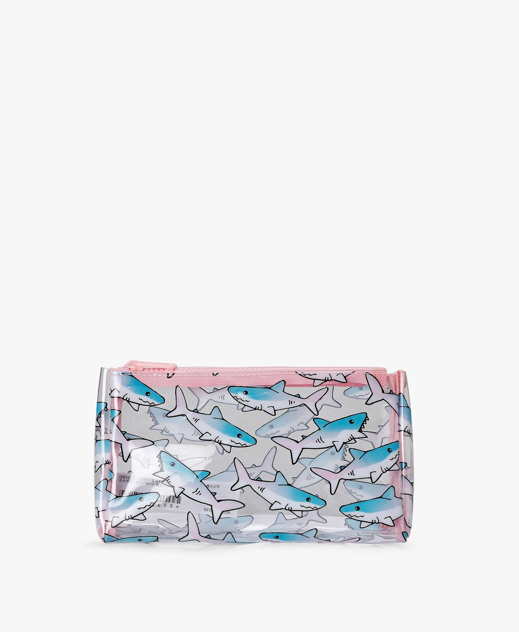 0e837649232b Pink Shark Print Makeup Bag in 2019 | everything | Shark makeup ...