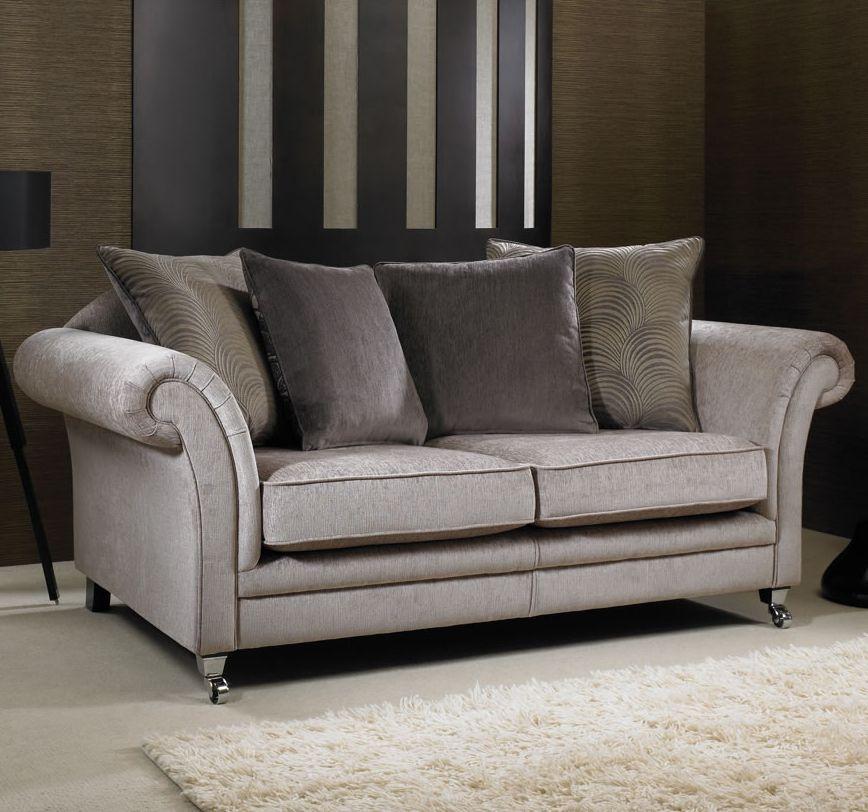 Grey pillow back sofa httpwwwworldstoresco Cosy LoungeGrey