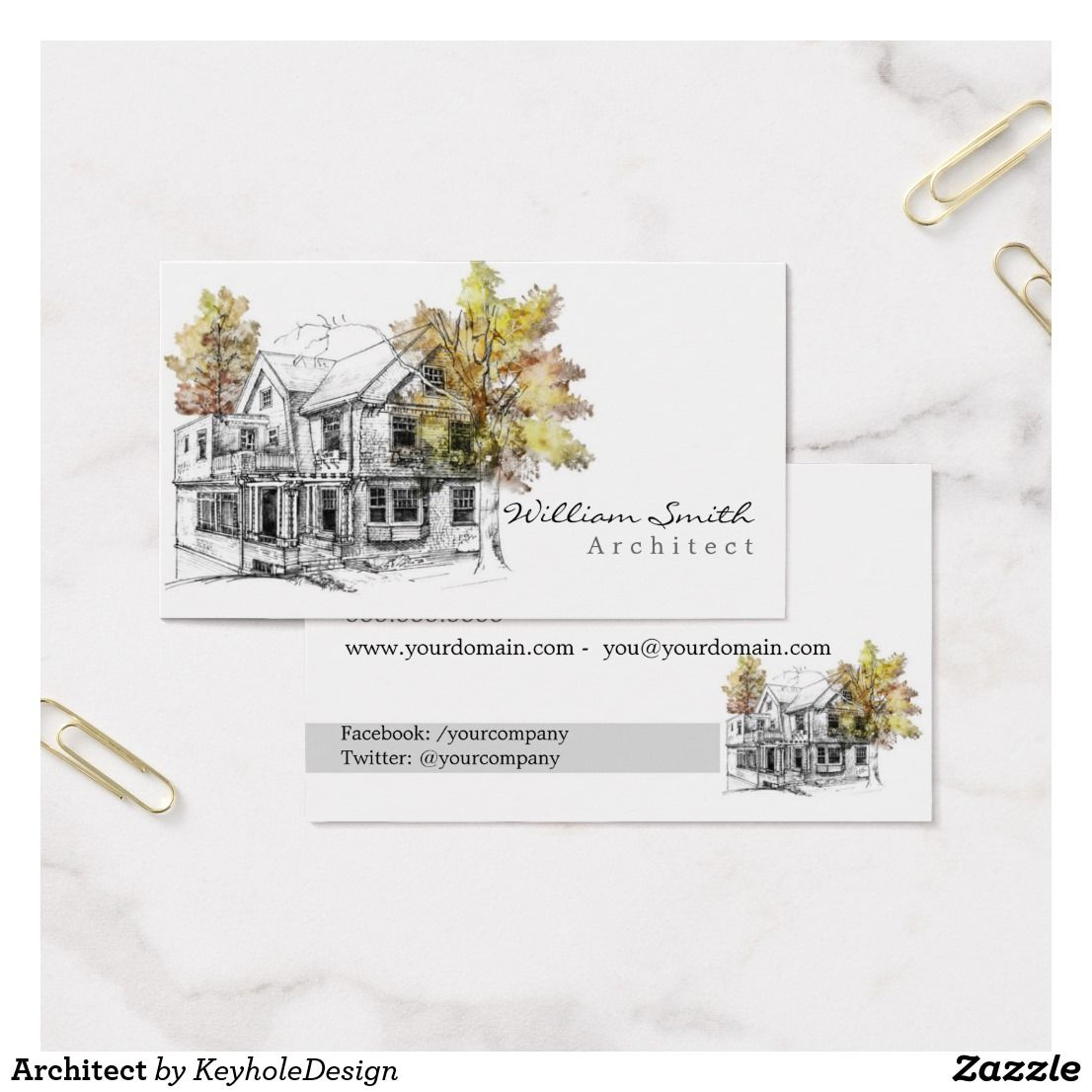 Architect business card office supplies pinterest business architect business card magicingreecefo Images