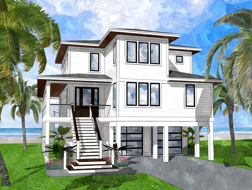 Dorians Beach Coastal House Plans From Coastal Home Plans Modern Beach House Beach House Exterior Beach House Interior
