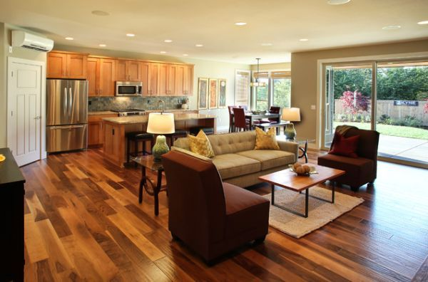 How To Style An Open Plan Living Space Open Concept Kitchen Living Room Living Room And Kitchen Design Open Kitchen And Living Room