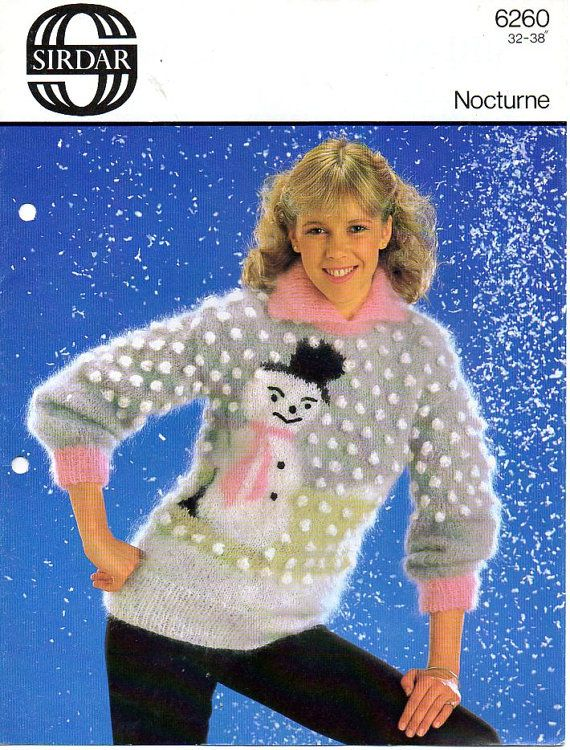 1970s Bad Christmas Jumper Sweater Knitting Pattern By Tinpotlil