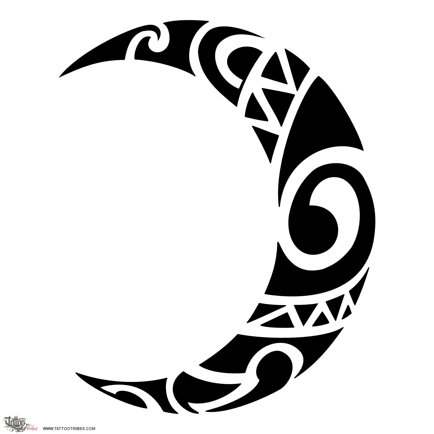 Tribal moon tattoos pinterest moon tattoo and maori moon tattoos designs ideas and meaning buycottarizona Image collections
