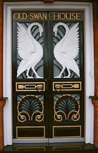 Art Nouveau Swan Door. @Deidra Brocké Wallace & Art Nouveau Swan Door. @Deidra Brocké Wallace | Exterior Ideas ...