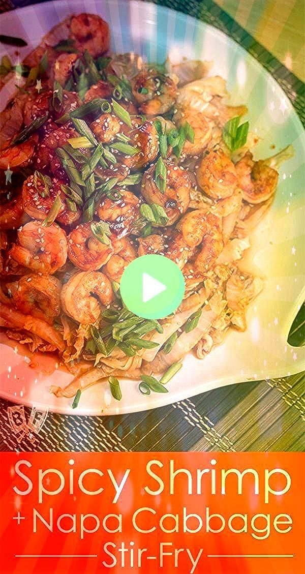 Shrimp  Napa Cabbage StirFry This Spicy Shrimp  Napa Cabbage StirFry is a quick and delicious Chineseinspired seafood meal You wont even miss the riceThis Spicy Shrimp  N...