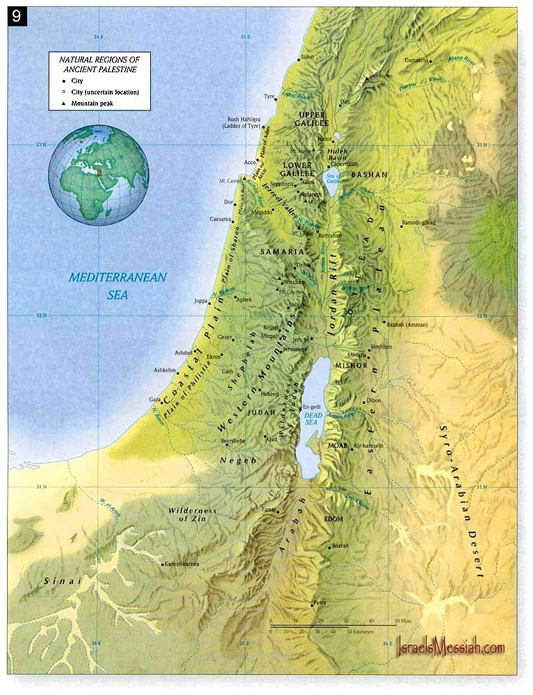 topographic map of ancient israel Detailed Topographical Map Of Palestine Map Bible Mapping