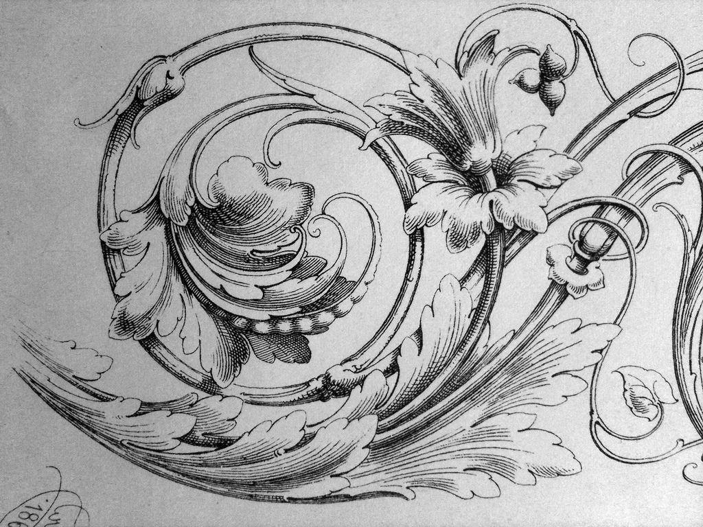 Ornament Drawings | Buchumschlag, Schnörkel und Wandmalereien