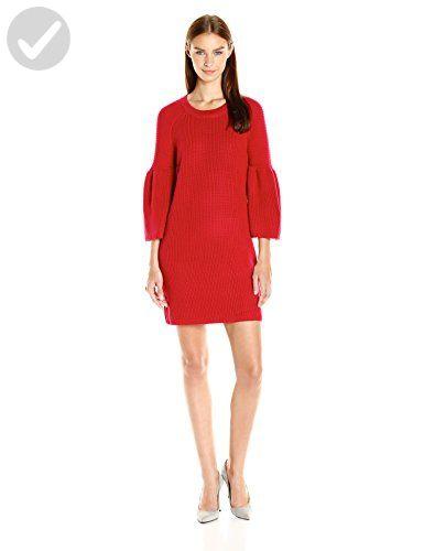 MINKPINK Women's Shameless Rib Knit Full Sleeve Dress, Cherry, Large - All about women (*Amazon Partner-Link)
