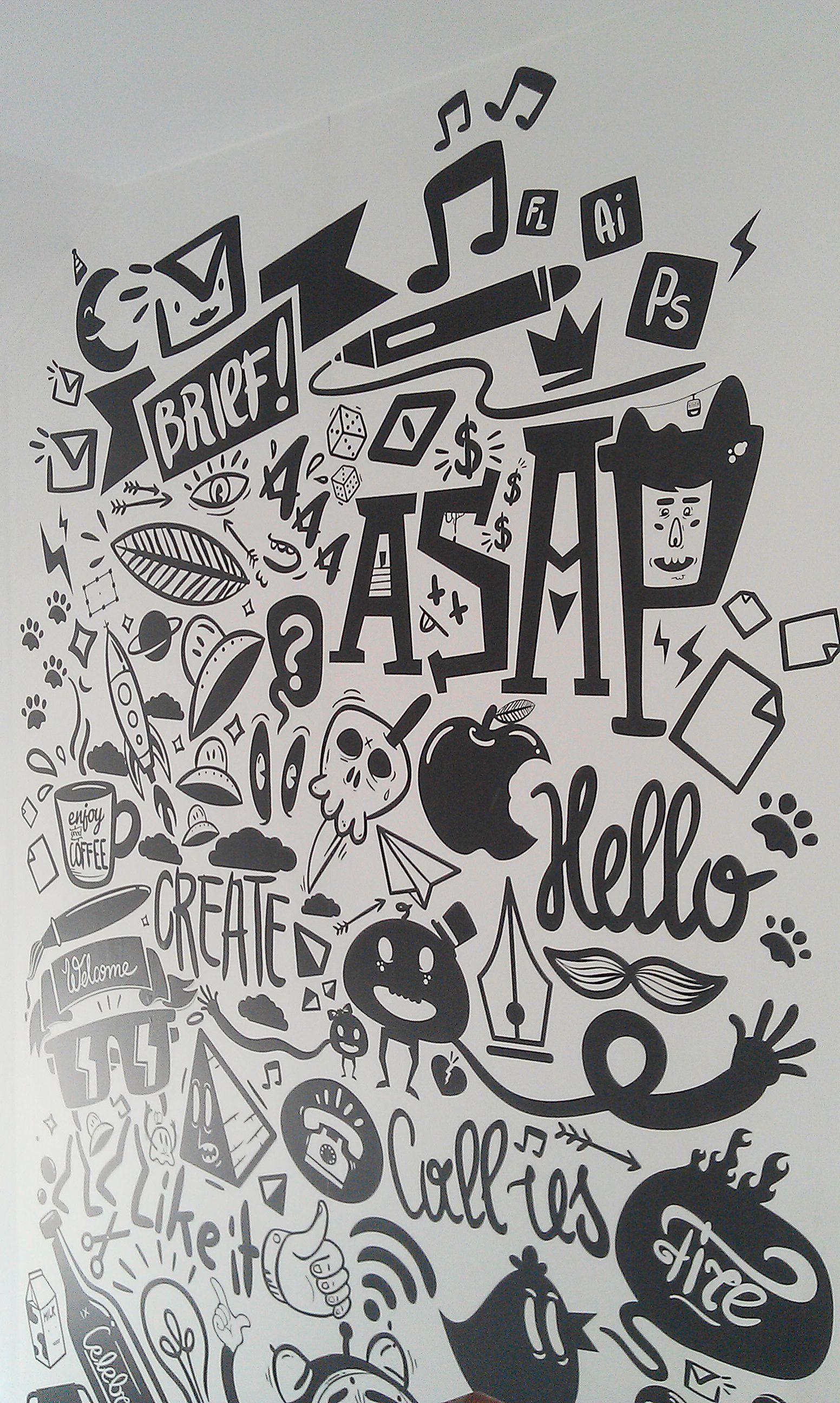 Agency Life Mural Peterjaycob Desenhos Para Parede De Quarto Pintura De Parede Criativa Murais De Parede