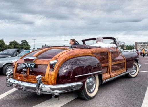 chrysler 1946 48 town country convertible woody in france things rh pinterest com