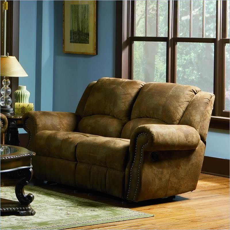 coaster brown microfiber reclining loveseat for the home rh pinterest com