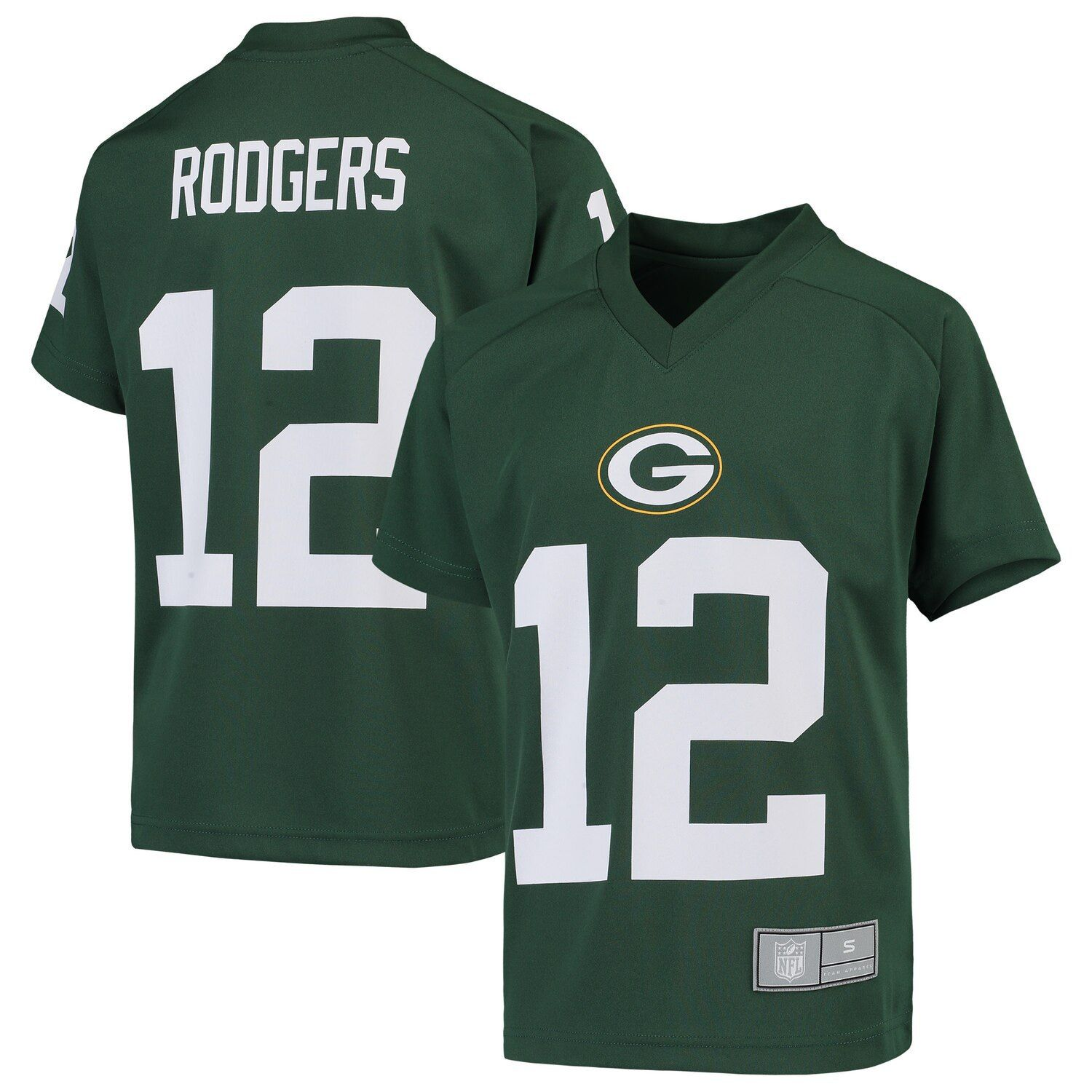 Youth Aaron Rodgers Green Green Bay Packers Player Name Number V Neck Top In 2020 Green Bay Packers Players Green Bay Packers Green Bay Packers Jerseys